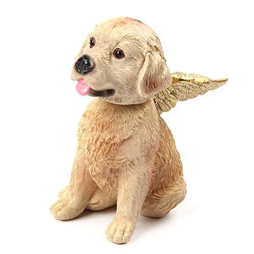 PFativant Hund Engel Figuren, Labrador, Golden Retriever, Schnauzer Tier Figur mit Engelsflügeln, 13.5 X 8.5 X 12.5 cm