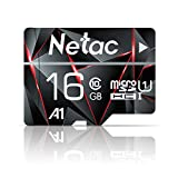 16GB Micro SD Card, Netac Memory Card MicroSD High Speed Transfer A1 C10 U1 MicroSDHC TF Card for Cemera/Phone/Nintendo-Switch/Galaxy/Drone/Dash Cam/GOPRO/Tablet/PC/Computer with Adapter