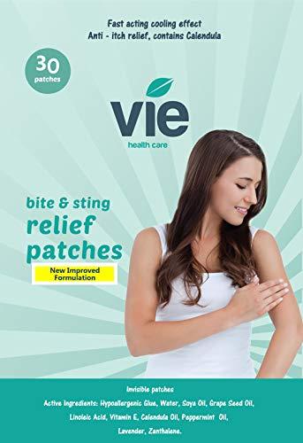 VIE, Bite & Sting Anti-Juckreiz Linderung Unsichtbare Pflaster, natürliche Inhaltsstoffe (30 Pflaster)