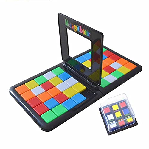 Magic Block Game, Parent-Child Activity Double Speed Game, Face to Face Race Board Game, Kids Educational Toys Blocks Interactive Race Board Game Family for Kids Adults