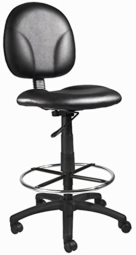 EZ Office Caressoft Work Stool with back, footring