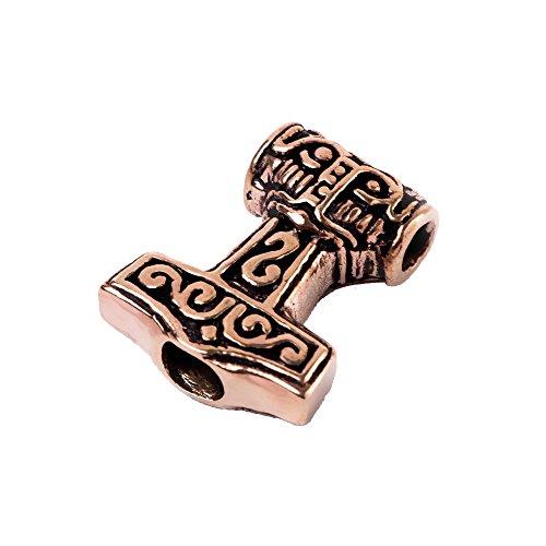 NKlaus Viking Hair Beard Jewellery THORALF Thorshammer Bead Bronze 7695