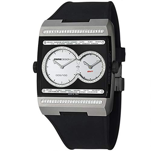 Dual Tech Dual Time Diamond Black Dial Titanium Men's Watch