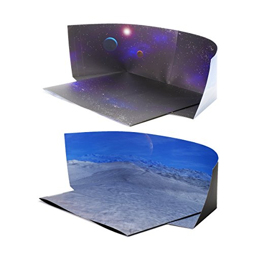Starfield/ Hoth Backdrop Compatible with Lego Shopkins Action Figures Play; Double-Sided Dioramas: Twice The Value for The Money; Great for Engaging Imagination, Make Stop-Motion Movies; Single Pack