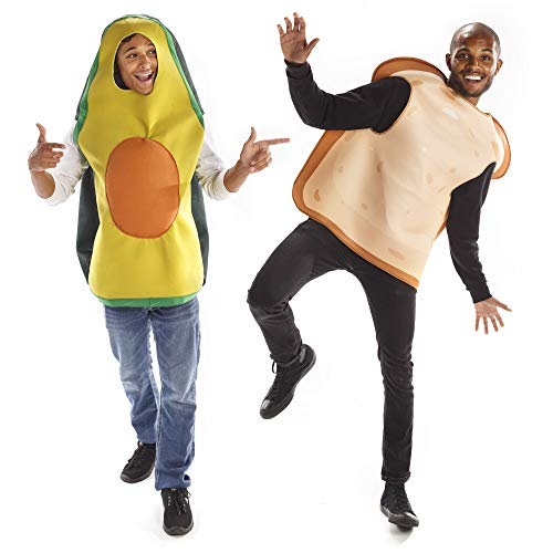 Avocado Toast Halloween Couples Costume - Funny Food Unisex One-Size Suits