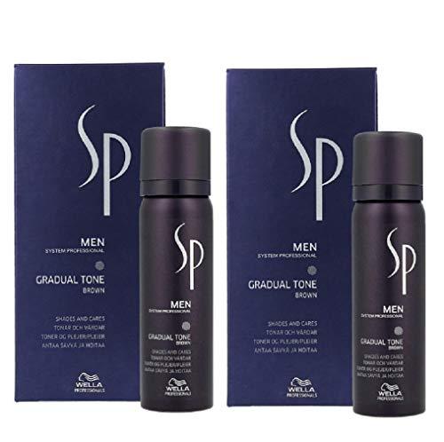 Wella 2x SP System Professional MEN Gradual Tone Braun 60 + 30 Ml