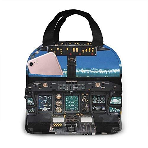 Bolsa de almuerzo, bolsa de almuerzo con aislamiento de cabina de avión, caja de almuerzo para mujeres, hombres, viajes de trabajo