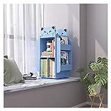 Estantería Librería Infantil Estantería Planta de almacenamiento en rack de los niños libro de almacenamiento de imágenes bastidor giratorio creativo Librero pequeño de madera for el hogar de los niño