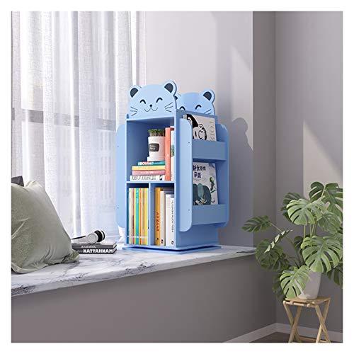 Librería Estantería Infantil Estantería Planta de almacenamiento en rack de los niños libro de almacenamiento de imágenes bastidor giratorio creativo Librero pequeño de madera for el hogar de los niño ✅