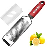 Premium Multipurpose Cheese Grater - Zester, Chocolate, Ginger Grater, Carrot Zesters, lemon Graters For Kitchen, Grater Soft Grip Handle, Hand-held Kitchen Tool, Dishwasher Safe. ASONTAO