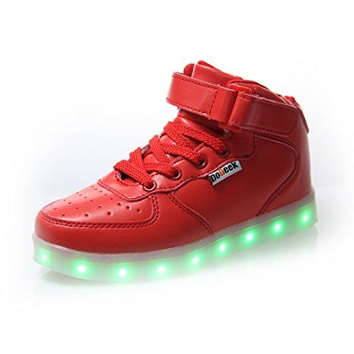 DoGeek LED Schuhe Kinder 7 Farbe USB Auflade Leuchtend Sportschuhe LED Sneaker Turnschuhe £¨W?hlen Sie 1 gr??ere Gr??e£©
