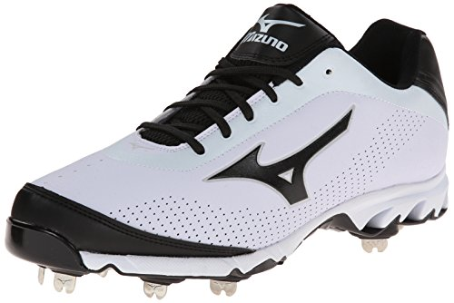 Mizuno Herren Vapor Elite 7 Low Baseball Cleat, Wei (weiß/schwarz), 50 EU