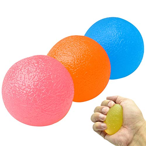 nuosen 3PCS Gel Hand Balls,Hand Therapy Squeeze Exercise Stress Balls...