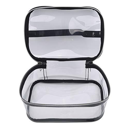 Ivyday Sac de Maquillage Transparent Portable Zipper Sac Transparent étanche Sac Cosmétique de Voyage,# 01