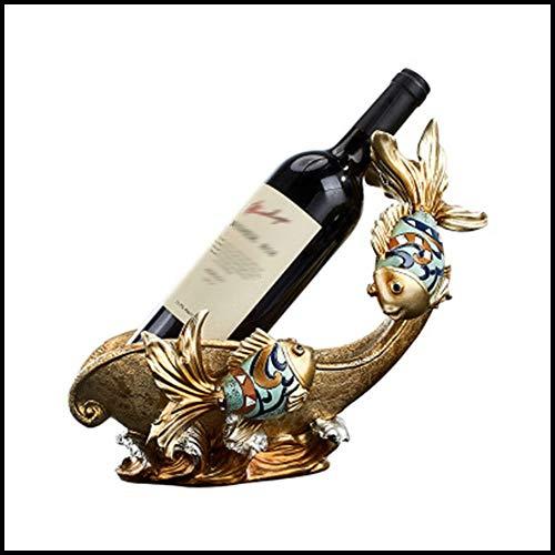 sknonr Libra Color del Vino Wine Rack Gabinete Creativo decoración decoración del hogar Resina Artesanía