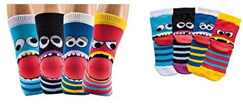 Kinder Socken 6 Paar Jungen oder Mädchen,Schadstoffgeprüfte Textilien nach Öko-Tex Standard 100 (Freche Bande, 31/34 = 7-8 Jahre)