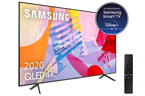 "Samsung QLED 4K 2020 50Q60T - Smart TV de 50"" con Resolución 4K UHD, con Alexa integrada, Inteligencia Artificial 4K Wide Viewing Angle, Sonido Inteligente, One Remote Control"