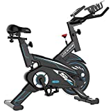 Indoor Exercise Bike, pooboo Magnetic Cycling Bike Belt Drive Indoor Stationary Bike with Tablet Holder and LCD Monitor Support up to 350 Lbs for Home Workout