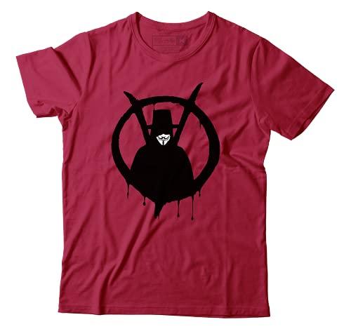 Camiseta V De Vingança V for Vendetta Guy Fawkes Alan Moore Camisa Unissex (P)