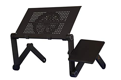 Laptop Stand Adjustable --Ergonomic Lap Desk - Aluminum Stands - Tablet Holder - Cooling Laptop Tray for Bed - Portable Laptop Stand - Lap Trays - Couch Table- GoldenRaven