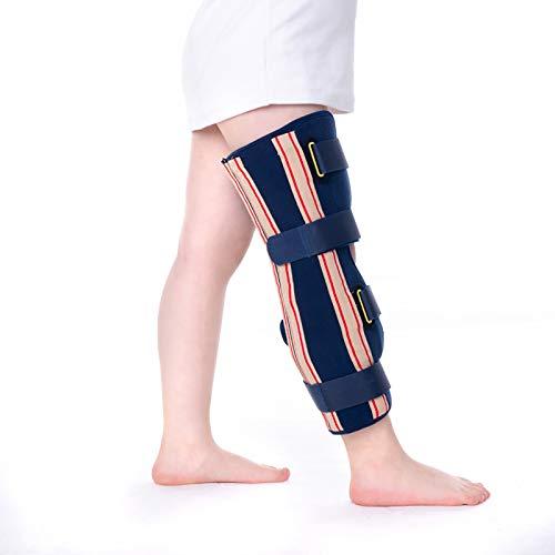 HYRL niño Rodillera Soporte de articulación de Rodilla Ajustable, postoperatorio de lesión de rótula Soporte inmovilizador Protector ortopédico - Férula de ortesis de Rodilla estabilizadora