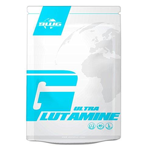 BWG 100% L-Glutamine Ultrapure Pulver, In Deutscher Premiumqualität Hochdosiert, Muskelaufbau, Für Kraftsport und Bodybuilding, Top Aminosäure (1 x 1000g Beutel)