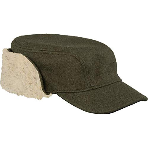 Stormy Kromer Bergland Cap - Men's Winter Guide Hat with Ear Flaps Olive