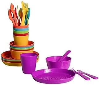 Klickpick Home Kids colorful dinnerware set 6 colors (36 PCS SET)