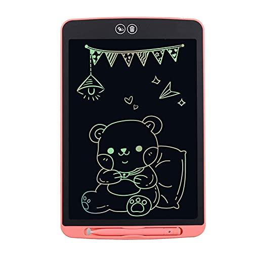 12 Zoll LCD-Schreibtablett, Bildschirm Zeichenbrett, Doodle Scribbler Pad , Zeichentablett für Kinder und Erwachsene für Zuhause, Schule, Büro, Rosa