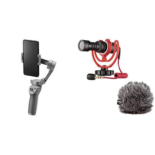DJI Osmo Mobile 3 3 Achsen Smartphonestabilisator Kompatibel mit iPhone und Smartphone Android Leichtes und tragbares Design stabile Aufnahme Rode VideoMicro kompakt On Camera Microphone