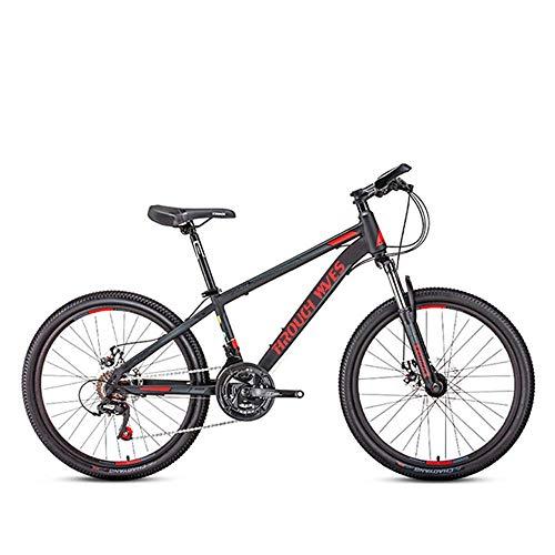 Bicicleta de montaña para adultos, bicicleta de montaña para senderos, bicicletas de carretera de acero con alto contenido de carbono, bicicleta de 24 pulgadas y 21 velocidades, suspensión completa, e