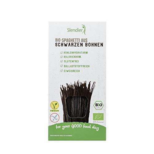 Slendier Black Bean Organic Spaghetti, 200 g (Pack of 6)