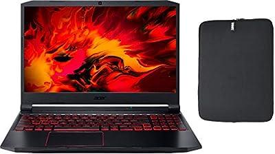 "Acer Nitro 5 15.6"" FHD IPS Gaming Laptop w/ Woov Sleeve, Intel Quad-Core i5-10300H, NVIDIA GeForce GTX 1650 4GB, Backlit Keyboard, USB-C, Windows 10 Home"
