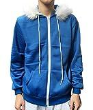 Jonikow Sans Adult Children Blue Print Hoodie Cosplay Costume Jacket Sweatshirts (M, Children)