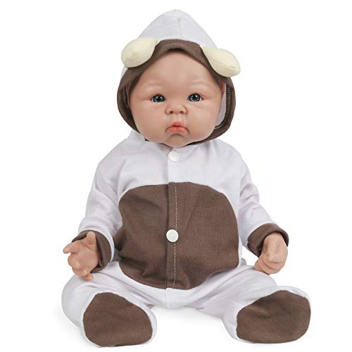 Vollence 19 inch Full Silicone Baby Doll That Look Real,Reborn Baby Doll,Realistic Real Baby Doll,Lifelike Baby Dolls - Girl