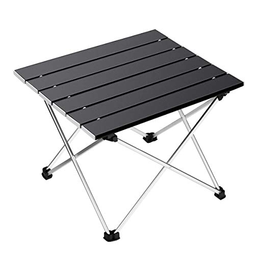 Ledeak Portable Camping Table, Lightweight Folding Table with Aluminum Table Top and Carry Bag, Easy to Carry, Prefect for Outdoor, Picnic, Cooking, Beach, Hiking, Fishing