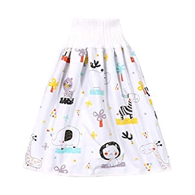 Baby Diaper,Children's Diaper Skirt Shorts 2 in 1,Anti Bed-wetting Waterproof Bed Clothes for Baby Boy Girl Night Time Sleeping Potty Training 0~8T (0-4T, D)