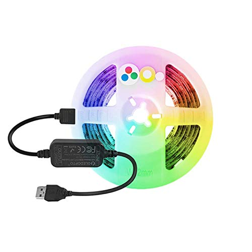 Zigbee Controller 5V USB IP65 Waterproof LED Light Strip - TV LED Backlights Works with Google Home and Alexa Through Your Zigbee hub
