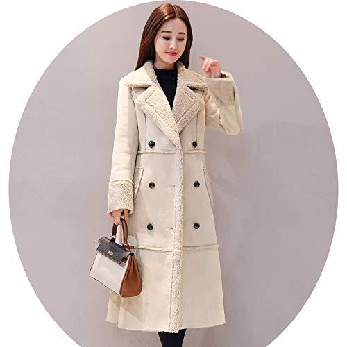 Top AZW@ Wool Coat Female Long Section Slim Plus Cotton Coat Jacket Female Student Autumn and Winter Woolen Coat Womens Clothing