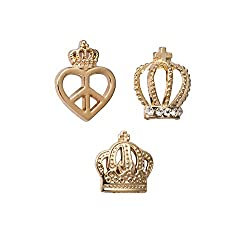 Elegant Set of Power Lapel Pin Brooches