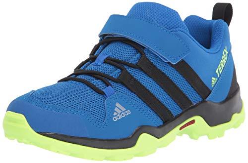 adidas outdoor Unisex-Kid's Terrex AX2R CF K Hiking Boot, Tech Indigo/Black/Signal Green, 2 M US Little Kid