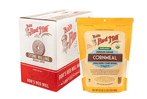 Bob's Red Mill Organic Medium Grind Cornmeal, 24 Ounce (Pack of 4)