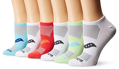 Saucony Women's 6-Pair Performance Super Lite No-Show Socks S62005M-905 br
