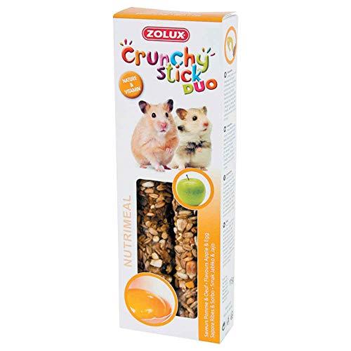 Zolux Crunchy Stick snack per criceto, mela/uovo, 115 g