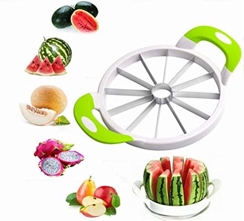 YUL Watermelon Cutter Stainless Steel Melon Fruit Cutting Tools Kitchen Multipurpose Cutter product image
