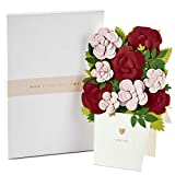 Hallmark Signature Paper Craft Flowers Displayable Bouquet Anniversary Card, Valentines Day Card, Love Card (I Love You)