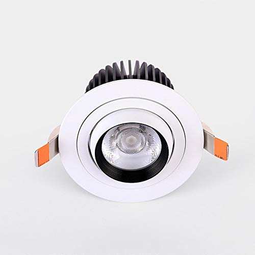 Any leampp Plafond Lamp Meerdere Specificaties Decoration Downlights Zoom Downlight verstelbare hoek Spotlight Efficiënt Ventilatie Embedded Ceiling Lamp (Color : 6000k white light, Size : 10w)