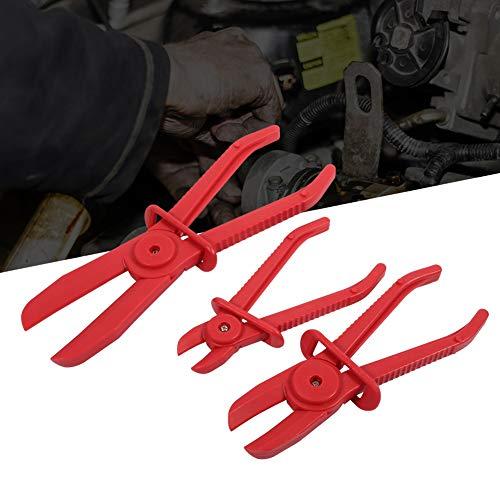 Wasserleitungsklemme, 3Pcs Flexible Nylon Schlauchschelle Werkzeugsatz Bremskraftstoffwasserleitungsklemme Zange Hands Free-Werkzeug