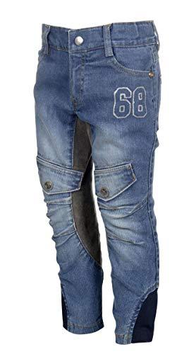HKM Erwachsene Reithose-San Luis Denim-3/4 Alos Besatz6100 Hose, 6100 Jeansblau, 134