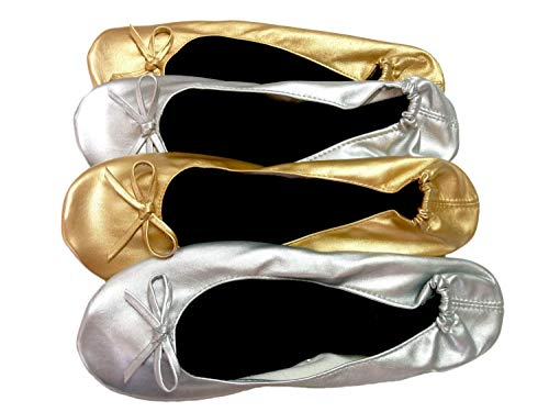 Pack 25 Pares - Bailarinas de Boda Surtidas en Tallas (M/L) y Colores: oro,bronce,plata